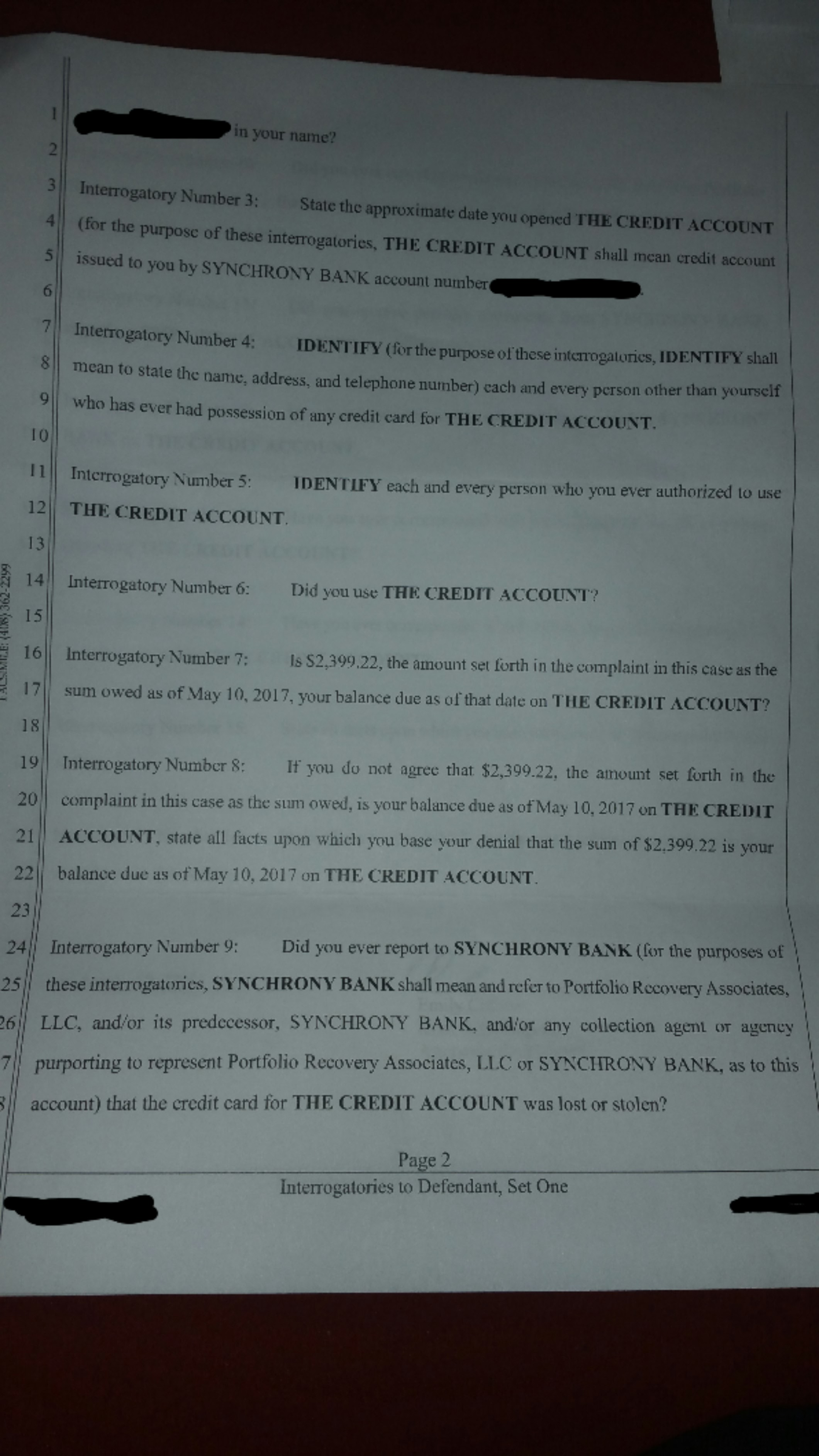 Help!! Sued by PRA-Hunt & Henriques--San Diego - Page 2 - Is