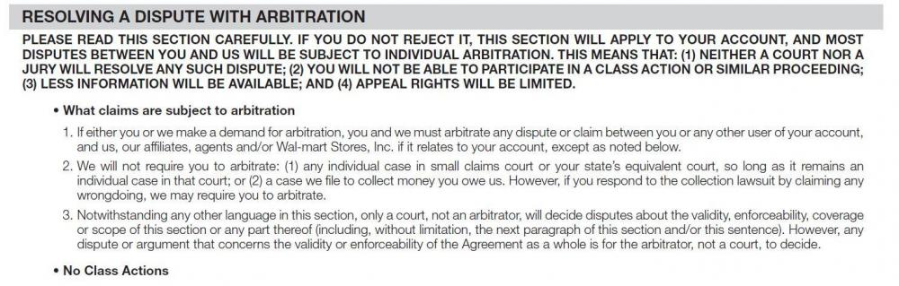 2014 Walmart Arbitration Terms.JPG
